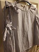 Stripy Blouse, long sleeve with accent bows in Pleasant View, Tennessee