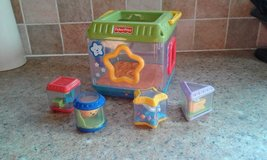 Fisher price peek a boo blocks shape sorter in Lakenheath, UK