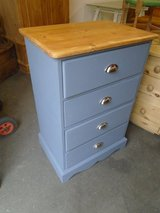 Solid pine chest of drawers grey in Lakenheath, UK