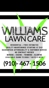 Williams Lawn Care in Camp Lejeune, North Carolina