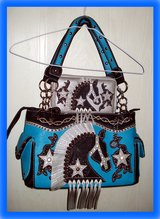 EQUESTRIAN HORSE Concealed Carry PURSE & WALLET Turquoise / Teal in Ruidoso, New Mexico