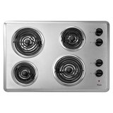 "Whirlpool 30"" Coil Electric Cooktop Chrome 4 Elements WCC31430AR in Tacoma, Washington"