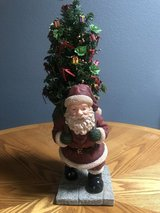 Santa with Christmas Tree in Alamogordo, New Mexico