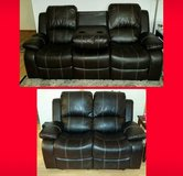 New Brown Leather Reclining Sofa & Loveseat in Spring, Texas