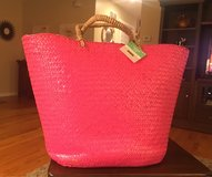 Pink Straw Tote in Joliet, Illinois