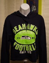 SEATTLE SEAHAWKS -  NFL Team Apparel Women's Hoodie Belly Crop Top (Small & Medium) *** NEW in Tacoma, Washington