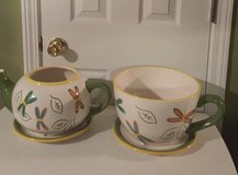 Better Homes and Garden Large Ceramic Teapot/Cup Planter (price each) in Eglin AFB, Florida