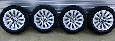 """Michelin Primacy 205/55R16 tires and BMW original 16"""" alloy wheels - EXCELLENT CONDITION in Okinawa, Japan"""