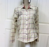 Twenty X Tailored XL Plaid Button Up Pearl Snap Long Sleeve Women's Shirt Blouse in Kingwood, Texas