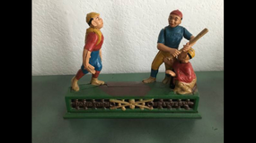 Vintage toy mechanical bank in Camp Pendleton, California