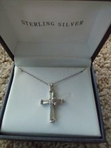Silver cross/ bird of peace necklace in Travis AFB, California