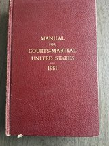 UCMJ Manual 1951 in Wiesbaden, GE