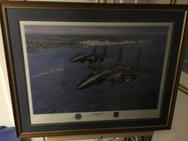 Military Art: Signed/Framed USAFE F-15s Over Dover UK by R. Wong print in Fort Meade, Maryland