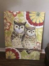 Owl canvas wall art in Camp Pendleton, California