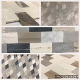 12x12 Thin Mosaic Wall Tile, different colors and shapes. Requires no grout, in Stock! in Rolla, Missouri