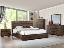 NEW! QUALITY WOOD PLATFORM QUEEN 4PC STORAGE BED SET! in Camp Pendleton, California