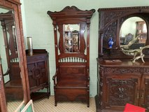 Carved Oak Seated Hallstand free delivery in Lakenheath, UK