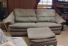 Couch with matching chair and ottoman in Clarksville, Tennessee