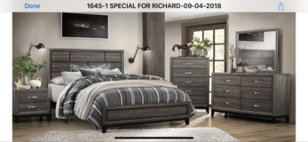 BRAND NEW! QUALITY GREY QUEEN 4PC BED SET! in Vista, California