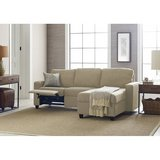 BRAND NEW! COMFY BEIGE SOFA CHAISE SECTIONAL WITH BUILT IN RECLINER + STORAGE! in Camp Pendleton, California