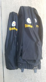 2 Steelers chairs with table (carrying case w/wheels) in Spring, Texas