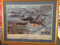 Military Art: Numbered/Signed Ronald Wong print : Eagles Over the Eifel 1953-94 Bitburg in Fort Belvoir, Virginia