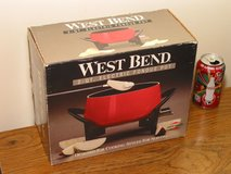 EXC+ Red Electric Fondue Pot Set by West Bend in Westmont, Illinois