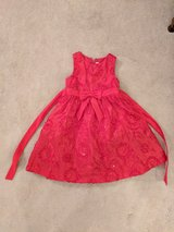 Little girls red ball gown in Camp Pendleton, California