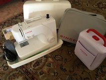 Singer Electric Sewing Machine and Accessories (Hardcase, soft cover, and sewing kit case) in Okinawa, Japan