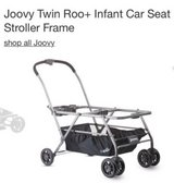 Joovy twin infant stroller frame with extra large basket in Joliet, Illinois