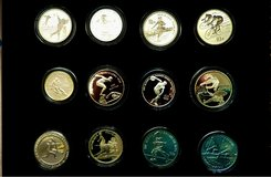 1992 Olympic German Silver 12 Coin Set in Baumholder, GE