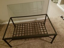 Coffee table black and glass in Sugar Grove, Illinois