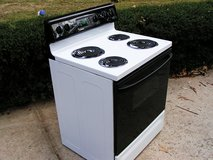 Stove-Range-White in Color-Electric-Frigidaire-3 months warranty in Warner Robins, Georgia
