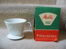 1960's Melitta Coffee Pour-Over Cone White Porcelain One-Hole Filter # in Fort Carson, Colorado