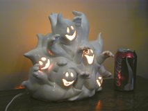 Halloween Ghost Mob Lighted Ceramic Nite-Lite or Table Centerpiece Decor in Westmont, Illinois