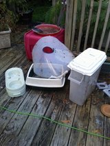 Litter Box, Pet Bowl Holder, Pet Food Containe r, Extra Large Dog Cone. in Camp Lejeune, North Carolina