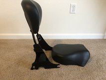 Motorcycle Seat Detachable w/ Back Rest in Hampton, Virginia