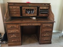 Solid Oak Roll Top Desk in Liberty, Texas
