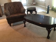 Chair-cherrywood coffee table and end table in Liberty, Texas