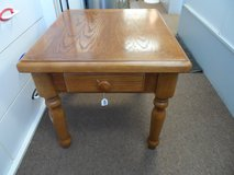 Oak End Table with drawer in Cherry Point, North Carolina