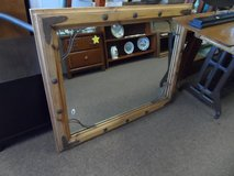OLD WOOD FRAMED WITH METAL ACCENTS - MIRROR in Cherry Point, North Carolina