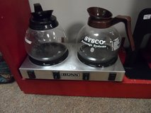 BUNN HOT PLATE & 2 SERVING GLASS POTS in Cherry Point, North Carolina