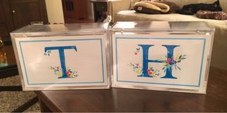 Monogrammed Acrylic Boxes in Yorkville, Illinois