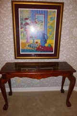 Gorgeous, solid dk Wood, Bear Claw Detailed Feet, Sofa Tables, great for Hallways, Entry, Den, D... in Katy, Texas