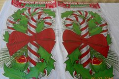 (2) Jumbo Xmas Window Candy Cane Stickers - BRAND NEW in Alamogordo, New Mexico