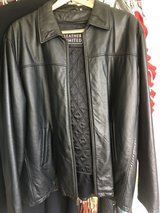 Men's 2XL leather jacket with removable thermo liner in Stuttgart, GE