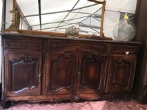 great big antique solid wood buffet side board from France in Ramstein, Germany
