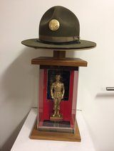 Authentic Drill Sgt Hat with holder and Drill Sgt display. in Heidelberg, GE
