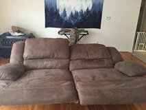 Mocha Microfiber Ashley Furniture Recliner Couch in Fort Leonard Wood, Missouri