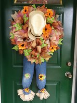Scarecrow Wreath Extra Large in Naperville, Illinois
